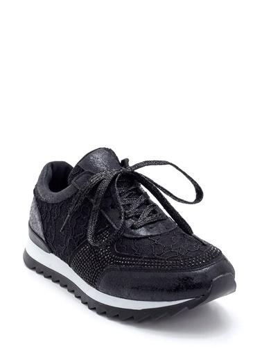 Derimod Kadın Dantel Detaylı Sneaker Siyah